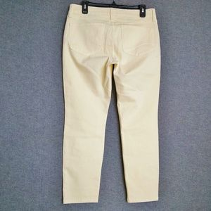 NYDJ Ankle Mid-Rise Stretch Jeans 8P Yellow